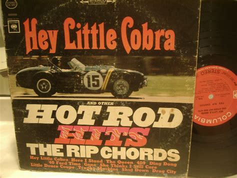 Rip Chords Lp Signed Autograph Hey Little Cobra Surf