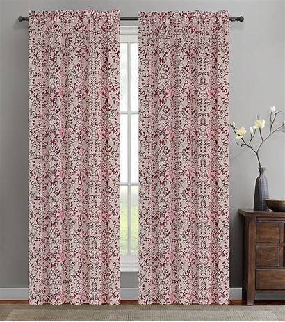 Curtain Jacquard Vine Panel Drapery Colors