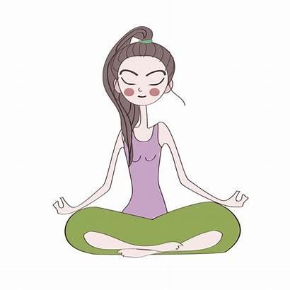 Yoga Meditation Clipart Drawing Cartoon Transparent Pose