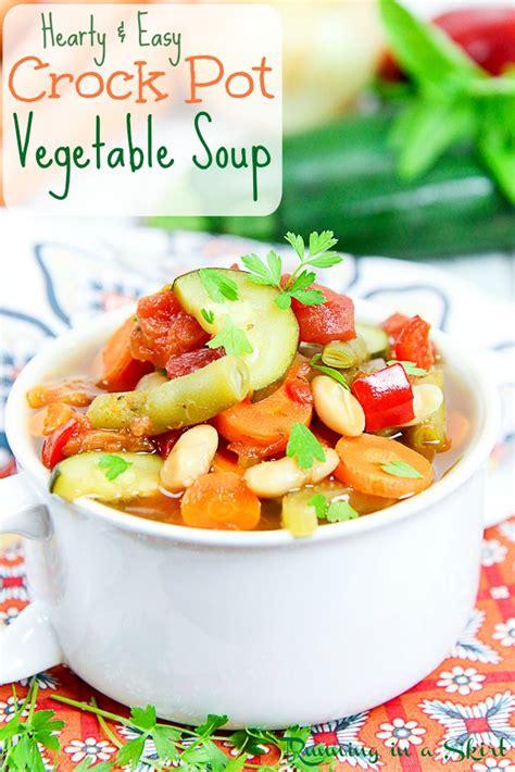 easy vegetarian crock pot recipes easy crock pot vegetable soup running in a skirt