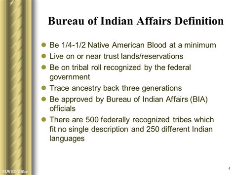 bia bureau of indian affairs experience ppt