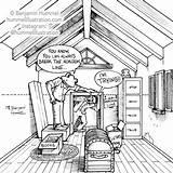 Attic Perspective Narrative Mod Children sketch template
