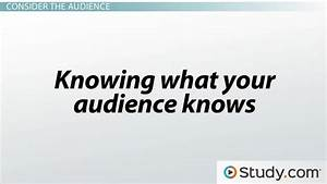 The Style of a Speech: Speaker, Audience & Purpose - Video ...
