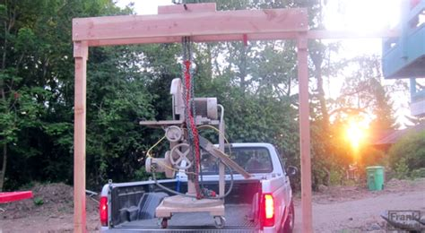 build a wooden gantry crane to move your heaviest tools