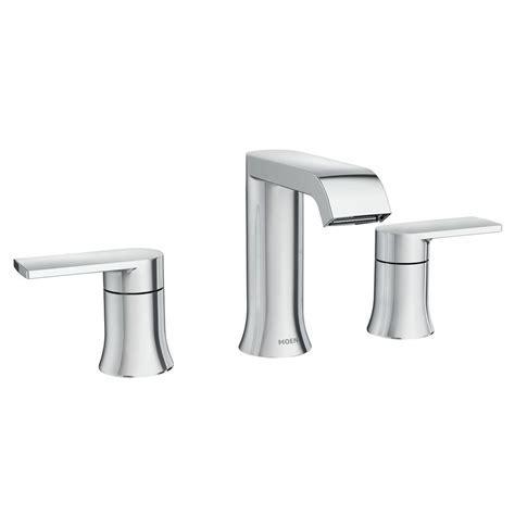MOEN Genta 8 in. Widespread 2 Handle Bathroom Faucet in