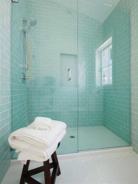 blue glass bathroom tile ideas  pictures