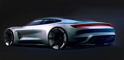 porsche mission e sketch porsche mission e concept design sketch car body design