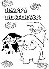 Coloring Pages Bunny Birthday Bunnies Printable Print Rabbit Three Ted Spring Printables Clipartqueen sketch template