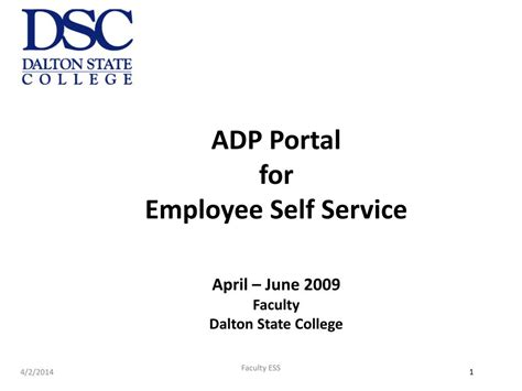 Adp Portal For Employee Self Service April