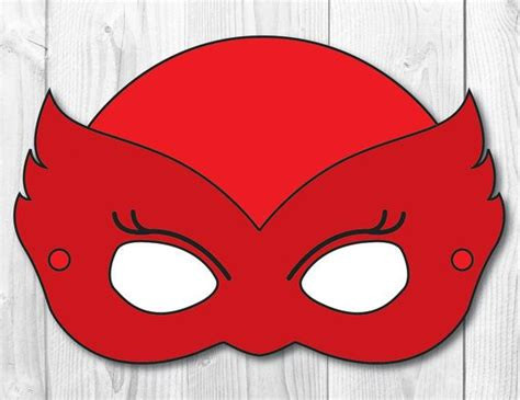 pj masks template instant this is a listing for a printable mask in digital format no printed