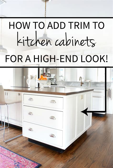 how to add moulding to kitchen cabinets how to add detail to a plain kitchen island the 9284