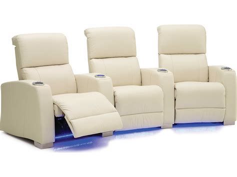 palliser hifi hts powered reclining home theater sectional  seats curved  loveseat