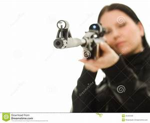 Cowgirl With A Gun Royalty Free Stock Images - Image: 25465409