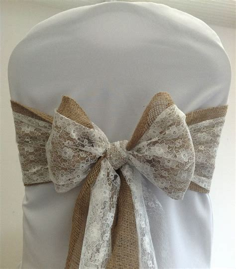 wedding chair sashes hessian wedding chair covers bows country google search chair