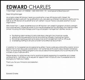 HR Advisor Cover Letter Sample | Cover Letter Templates ...
