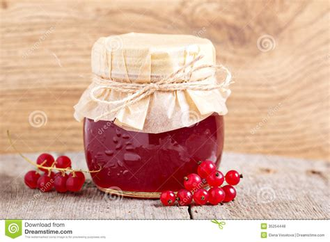 Red Currant Jelly In A Jar Royalty Free Stock Photos