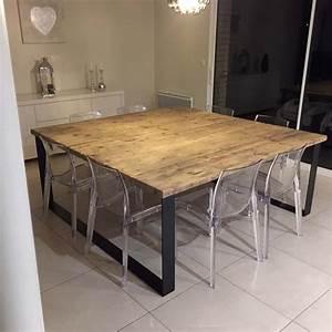 Table Salon Industriel : tables industrielles l 39 or du temps mobilier industriel ~ Teatrodelosmanantiales.com Idées de Décoration