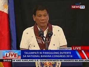 Talumpati ni Pangulong Duterte sa National Banana Congress ...