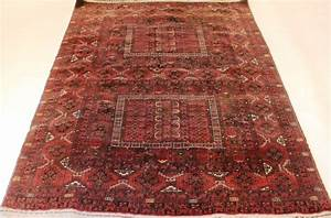 tapis d orient ancien noue a la main art deco afghan With tapis afghan ancien