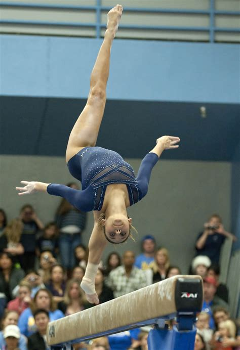 ucla gymnasts remain calm  championship berth  stake