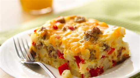 breakfast casserole bake gluten free impossibly easy breakfast bake recipe bettycrocker com