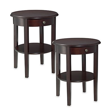 bed bath and beyond side table charleston round side tables set of 2 bed bath beyond