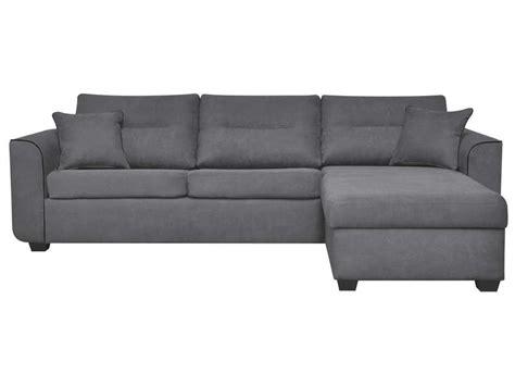 canap conforama gris canapé d 39 angle convertible et réversible 4 places en