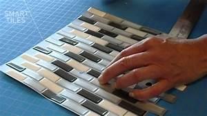 Carrelage Auto Adhésif : carrelage mural adh sif smart tiles installation du ~ Premium-room.com Idées de Décoration