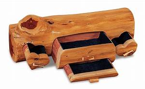 Amish Red Cedar Log Jewelry Box