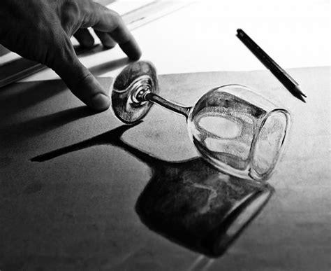 contoh gambar  dimensi  pensil  menipu mata