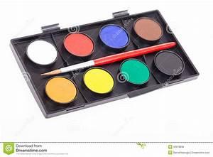Peinture À L Eau Murale : palette d 39 aquarelle peinture l 39 eau photo stock image 42978838 ~ Melissatoandfro.com Idées de Décoration