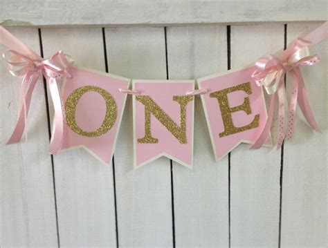 pink and gold birthday high chair banner ballerina birthday