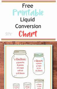 Cups Pints Quarts And Gallons Chart Free Printable Liquid Conversion Chart Easy Cooking Tips