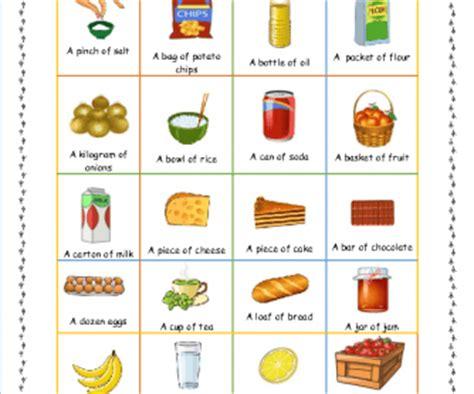 food quantities corrected