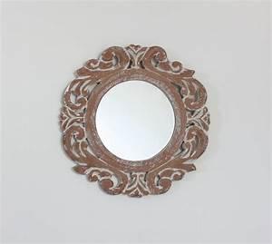 Spiegel Rund 70 Cm : wandspiegel rund mit aufwendiger schnitzerei 50x50 cm ~ Whattoseeinmadrid.com Haus und Dekorationen