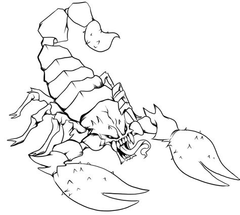 printable scorpion coloring pages  kids