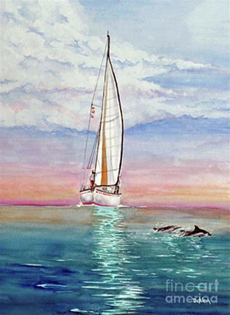 Key West Sailboat by Key West Sailboat Painting By Joe Dekleva