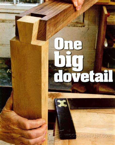 large dovetail joints woodarchivist