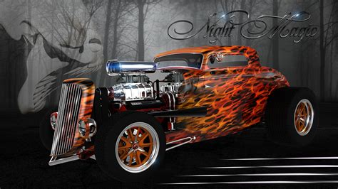 custom hot rod classic cars canvas prints