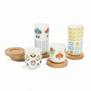 Tasse à Café Maison Du Monde : coffret 6 tasses et soucoupes en porcelaine brigitte maisons du monde ~ Teatrodelosmanantiales.com Idées de Décoration
