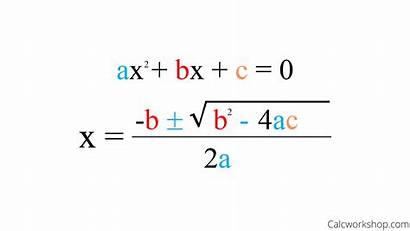 Quadratic Formula Solve Equation Explained Examples Equations