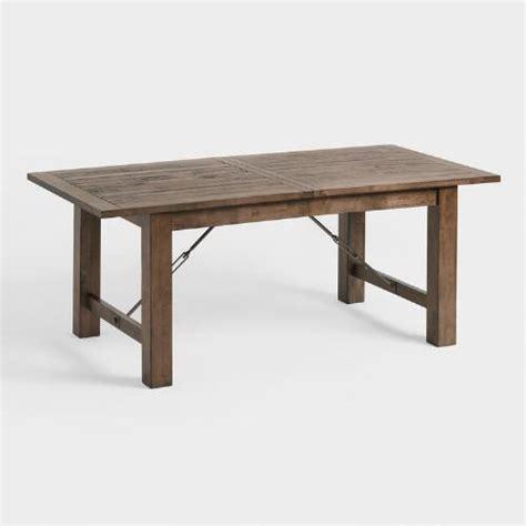 world kitchen table wood garner extension dining table world market
