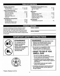 Page 2 Of Kenmore Range 362 61020 User Guide