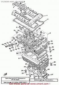 Yamaha Xs750-2d 1977 Cylinder Head - Cylinder
