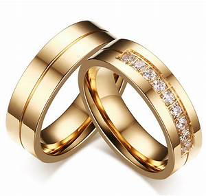 aliexpresscom buy new couple gold old engagement ring With wedding rings for couples gold