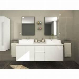 Meuble Salle De Bain 150 Cm : meuble salle de bain bois topiwall ~ Dailycaller-alerts.com Idées de Décoration