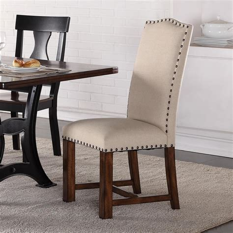 crown astor upholstered parson chair with nailhead