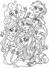 Coloring Equestria Pages sketch template