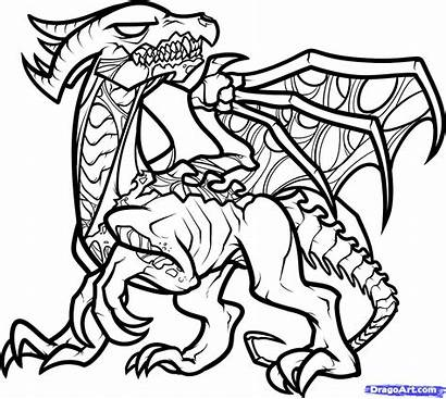 Dragon Coloring Pages Minecraft Ender Death Drawing
