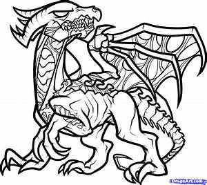 How To Draw A Death Dragon  Step By Step  Dragons  Draw A Dragon  Fantasy  Free Online Drawing